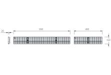 MEADRAIN 1000 Решетка меш 30/10 клас B125 L=1.0 м CLIPFIX