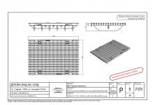 Решетка чугун надлъжен шлиц NW 200, 500/222/20, MW 22/13, Клас E 600 kN (pro) заключване с 4 болта