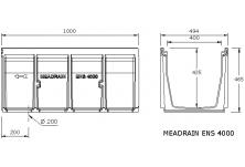 MEADRAIN EN4000.0 Улей отводнителен L=1.0 м
