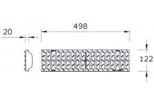 MEADRAIN 1000 Решетка шлиц 6/43 клас C250 L=0.5 м CLIPFIX