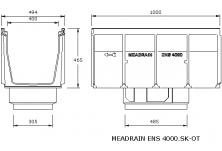 MEADRAIN EN4000 SK-OT Горна част на ревизионна шахта с кант от чугун