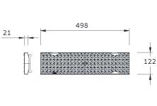 MEADRAIN 1000 Решетка перфорирана ø 6 mm от пластмаса, сива A15-L=0.5 м CLIPFIX