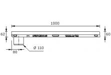 MEADRAIN LZ1000.0 A/60SC Улей отводнителен L=1.0 м с отвор Ø110