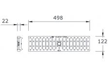 MEADRAIN 1000 Решетка шлиц 5/90 клас C250 L=1.0 м CLIPFIX