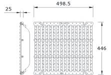 MEADRAIN EN4000 Решетка шлиц 15/125  чугун клас F900 L=0.5 м с болт. закл.