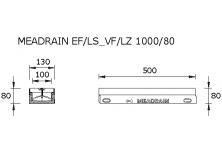 MEADRAIN LZ1000.1/80 SC Улей отводнителен L=0.5 м