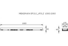 MEADRAIN LZ1000.0/60SC Улей отводнителен L=1.0 м