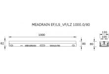 MEADRAIN LZ1000.0/80SC Улей отводнителен L=1.0 м