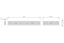 MEADRAIN 1000 Решетка шлиц 10/85 клас A15 L=1.0 м CLIPFIX