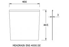 MEADRAIN EN4000.SE Челна плоча за начало/край