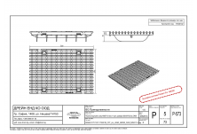 Решетка чугун надлъжен шлиц NW 300, 500/347/20, MW 29/13, Клас D 400 kN (pro) SV
