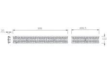 MEADRAIN 1000 Решетка шлиц 10/85 клас C250 L=1.0 м CLIPFIX