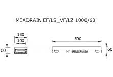 MEADRAIN LZ1000.1/60 SC Улей отводнителен L=0.5 м